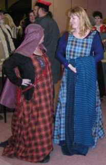 Ladies at Vest Yorvik's 'Bad in Plaid' event, photo © Heather of Dormanswell 2002, used by permission